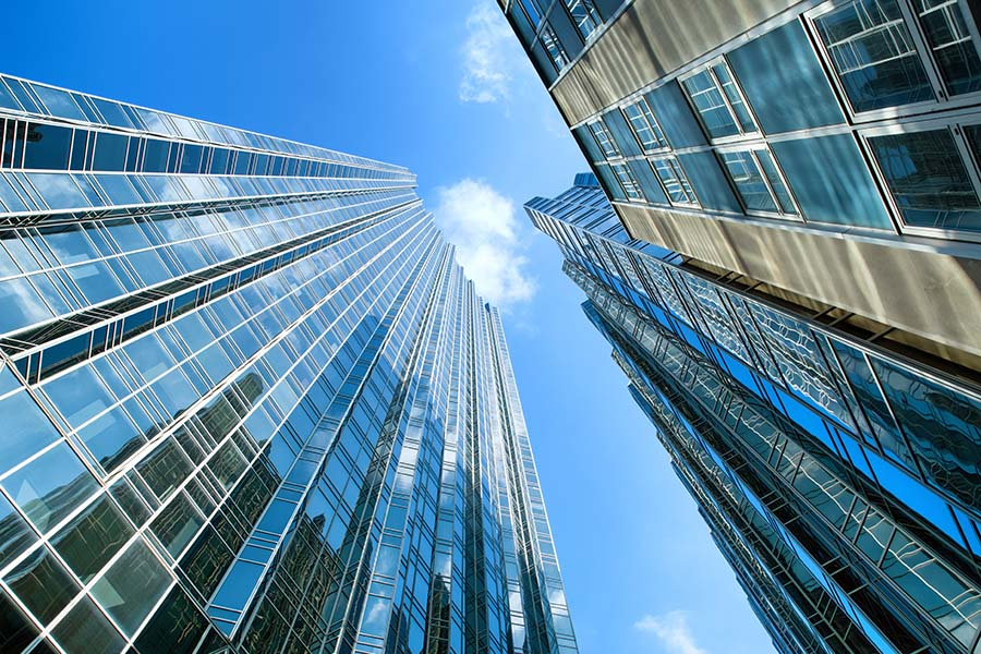 Business Insurance - View of Tall Skyscrapers in the City of Pittsburgh Against Blue Sky